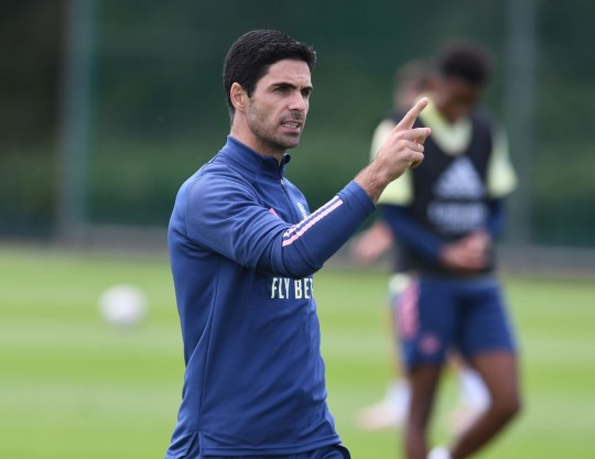 Mikel Arteta Arsenal Training Session