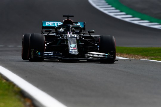 Lewis Hamilton secured pole position at Silverstone for the seventh time in his career