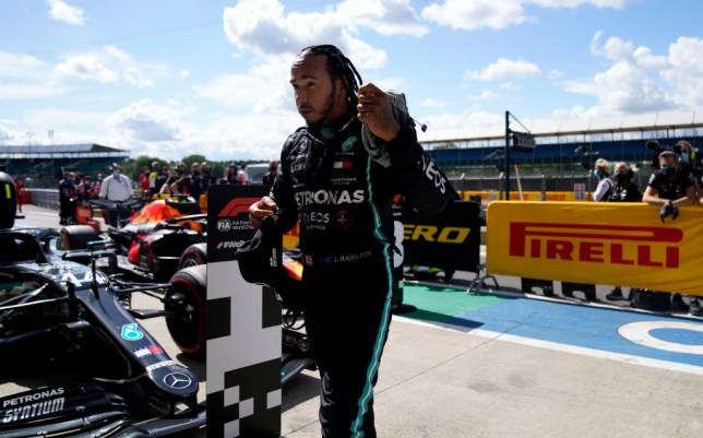 Lewis Hamilton secured pole position at the British Grand Prix