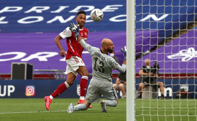 Pierre-Emerick Aubameyang scored twice in Arsenal FA Cup final win over Chelsea