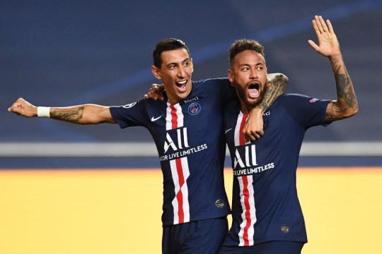 Neymar produced an outrageous assist for Angel di Maria's goal against RB Leipzig