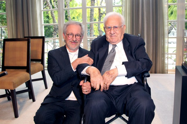 Steven Spielberg and father Arnold Spielberg