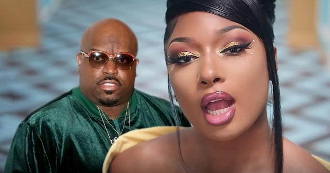CeeLo Green pictured alongside Megan Thee Stallion in WAP music video