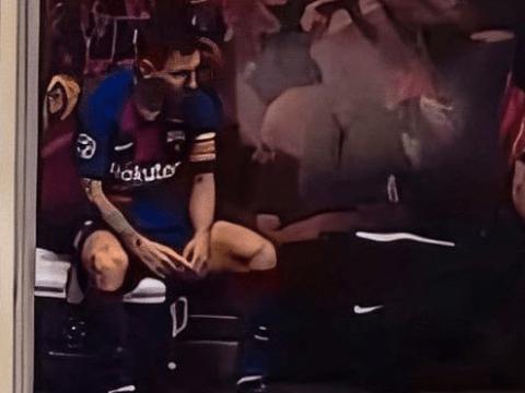 Video captures a broken Lionel Messi inside Barcelona dressing room against Bayern Munich