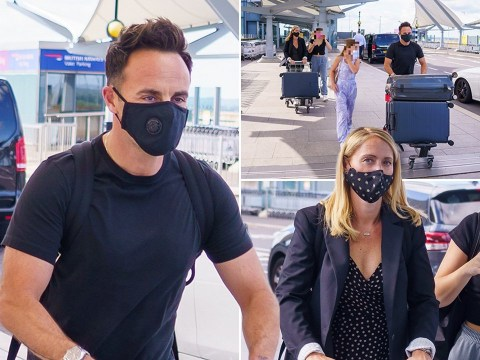 Ant McPartlin bonds with Anne-Marie Corbett's daughters as they jet off amid his and Dec Donnelly's well-earned break