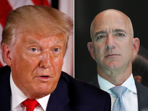Trump swipes at Jeff Bezos saying 'there's too much income disparity' in the US