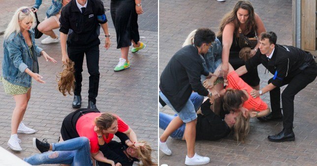 Brits brawl in Brighton as thousands flock to seaside towns for weekend
