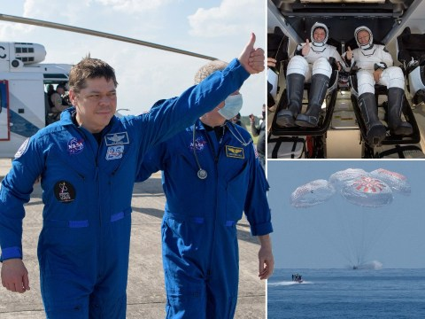 SpaceX Crew Dragon astronauts return to Earth in first splashdown for 45 years