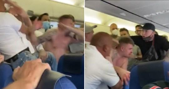 Une bagarre éclate à bord d'un vol à destination d'Ibiza après que deux Britanniques aient `` refusé de porter des masques ''.