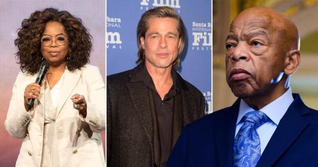 oprah, brad pitt and john lewis