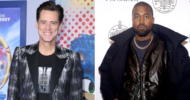 Jim Carrey and Kanye West