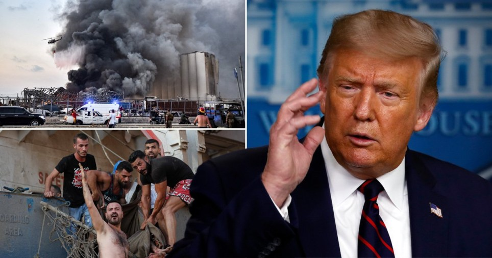 Trump says US generals believe Beirut explosion was 'a bomb of some kind'