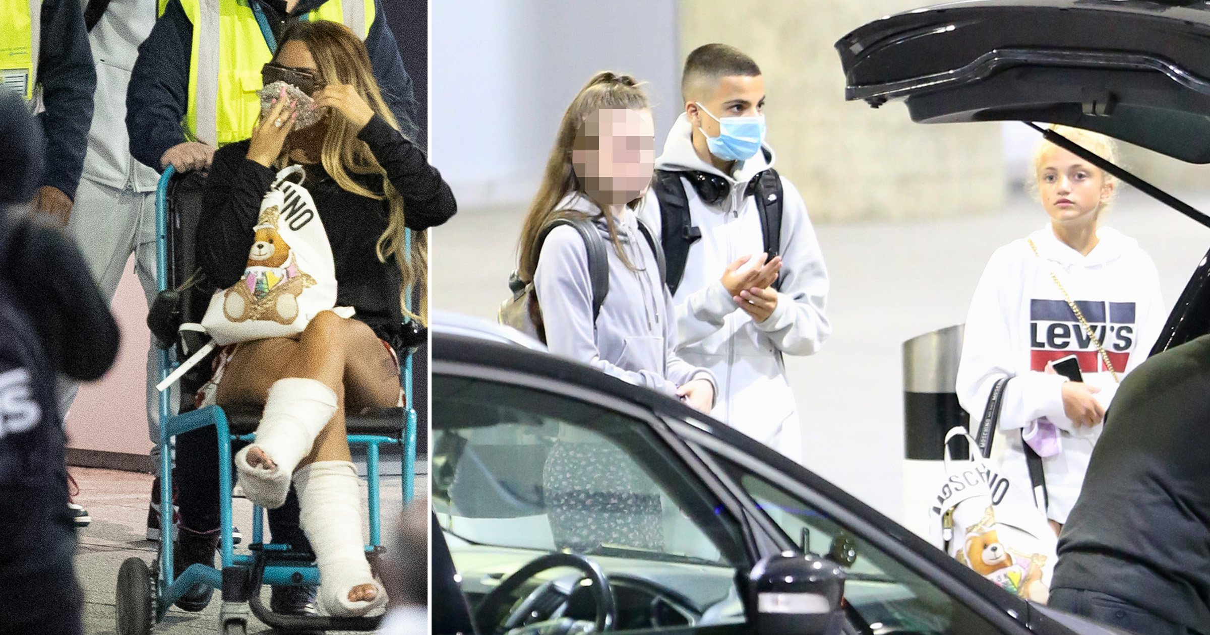 Katie Price Arrives Back In Uk In Wheelchair And Bandages After Horror Fall Big World Tale