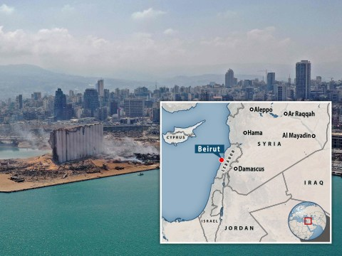 Where is Beirut and how far is it from Cyprus where shockwaves were felt?