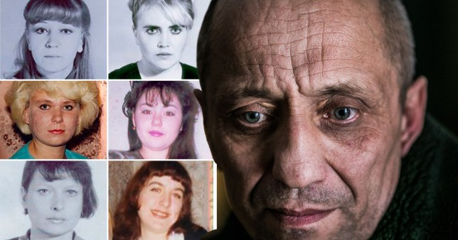 Popkov and six of his 83 known victims