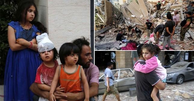 Children homeless after the Beirut blast