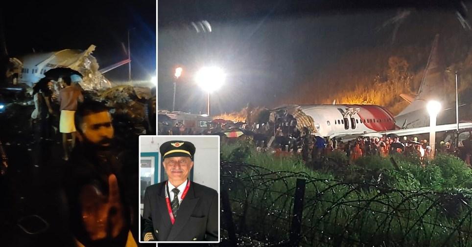 Air India flight crashing