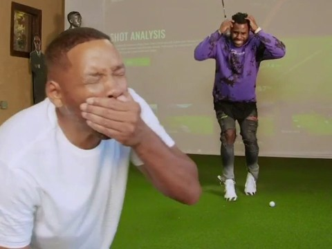 Will Smith's front teeth 'knocked out' by Jason Derulo in golf swing prank