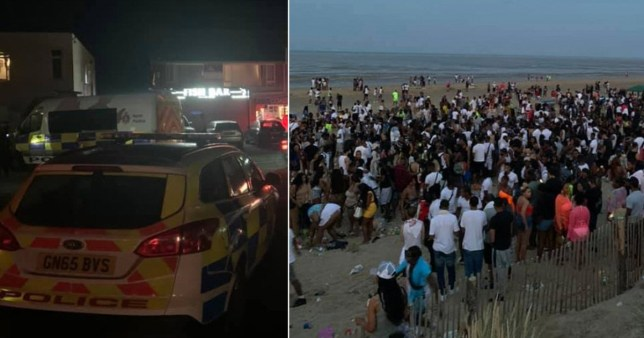 illegal rave in East Sussex