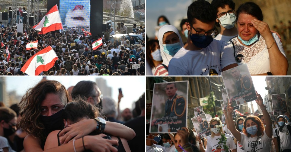 Thousands have taken to the streets of Lebanon to pay tribute to the 171 people whose lives were lost in a catastrophic explosion one week ago today.