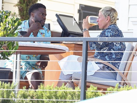 Ellen DeGeneres reunites with pal Kevin Hart after he defended her over 'toxic' work claims