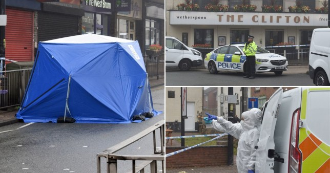 A young man died after trying to break up a fight outside The Clifton in Sedgley.