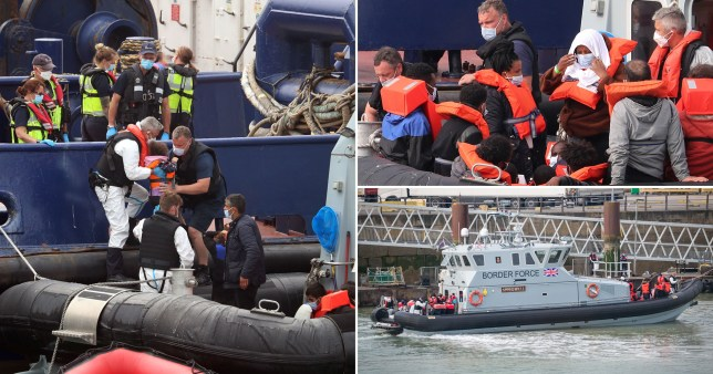 Young migrant attacked on beach moments after arriving in UK in rubber dinghy