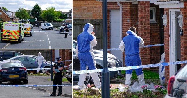 A teenage girl, 15, and a man, 28, have been arrested on suspicion of murder after a woman was found dead at a house in Leamington Spa, Warwickshire.
