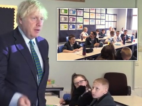 Boris accused of 'staged' school visit as children seen not socially distancing