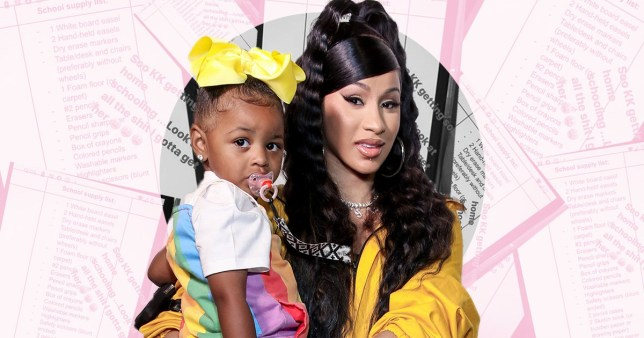 Cardi B pictured with daughter Kulture
