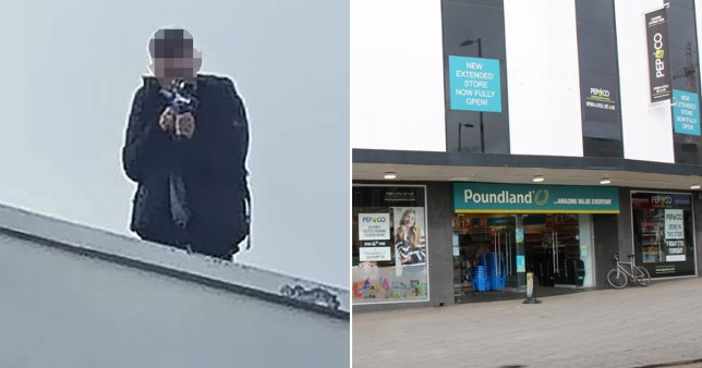 Armed police shut down city centre after reports of 'gunmen' on Poundland roof