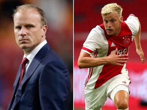 Arsenal legend Dennis Bergkamp convinced Donny van de Beek to join Manchester United