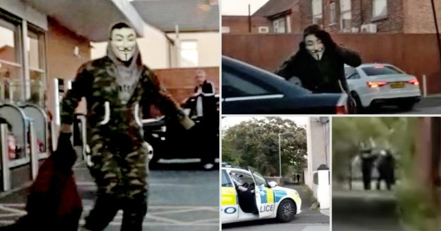 Masked man 'mowed down by customer while trying to escape petrol station robbery'