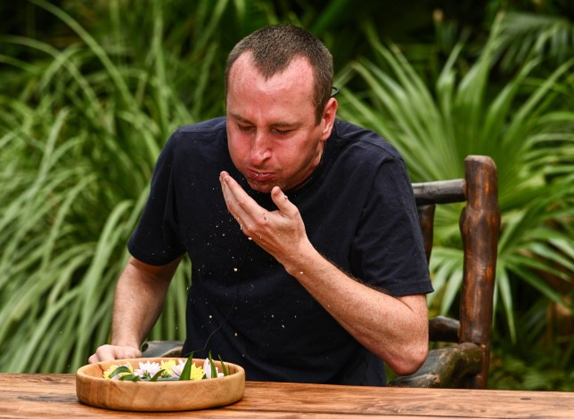STRICT EMBARGO - NOT TO BE USED BEFORE 22:35 GMT, 08 Dec 2019 - EDITORIAL USE ONLY Mandatory Credit: Photo by James Gourley/ITV/REX (10494668ax) Bushtucker Trial, Bushtucker Bonanza - Andrew Whyment 'I'm a Celebrity... Get Me Out of Here!' TV Show, Series 19, Australia - 08 Dec 2019