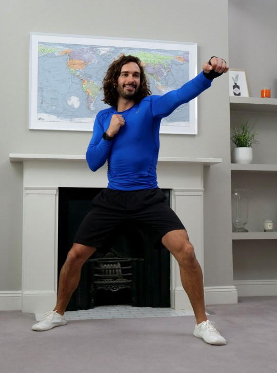 Joe Wicks exercising