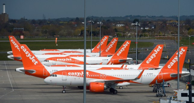 File photo dated 01/04/20 of Easyjet aircraft parked at Southend airport as the airline is considering cutting more than 700 pilot jobs and closing its bases at Stansted, Southend and Newcastle airports, according to union Balpa. PA Photo. Issue date: Tuesday June 30, 2020. The airline began formal consultation on its proposals on Tuesday after it announced last month it would reduce its workforce by up to 30%. See PA story AIR EasyJet. Photo credit should read: Nick Ansell/PA Wire