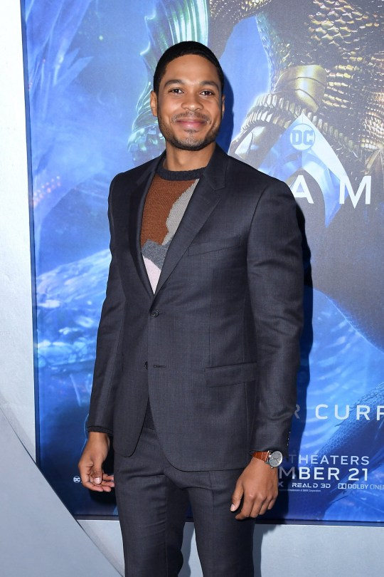 Ray Fisher on red carpet