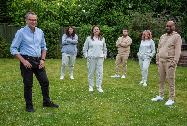 Dr Michael Mosley and participants of the 21 day diet