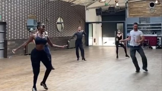 Oti Mabuse returns to the studio for Strictly rehearsals BBC/Getty