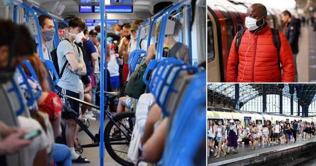 Train passengers could be infected by coronavirus if they sit within 2.5 metres of someone carrying the disease on a two-hour journey, according to new research.