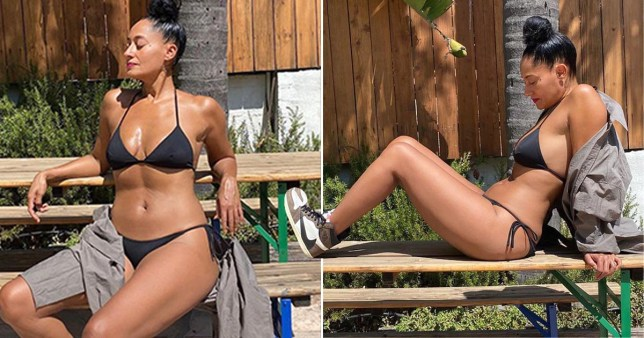 Tracee Ellis Ross is summer goals as she has a pool party without a pool