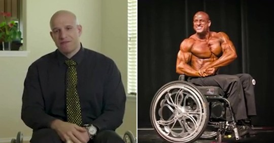 Man who became a bodybuilder after being paralysed