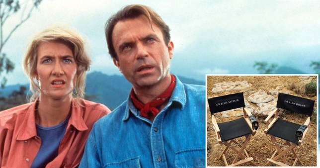 Sam Neill and Laura Dern