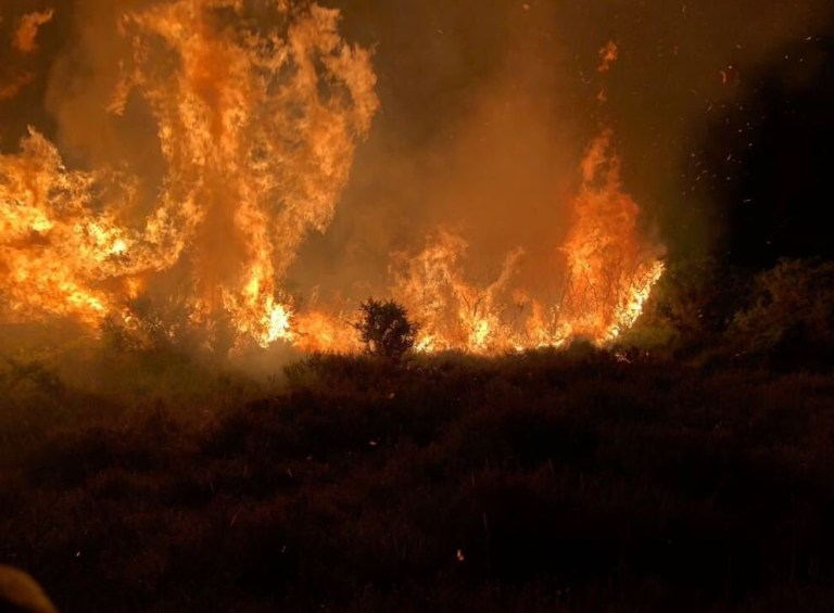 Pictures of Chobham Common Fire
