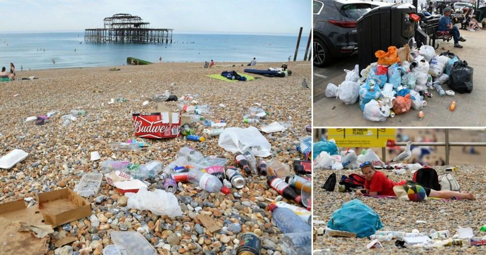 Beach clean up Pics: MEN Media/Reuters