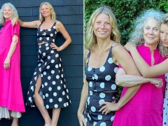 Gwyneth Paltrow poses with her mother Blythe Danner and daughter Apple