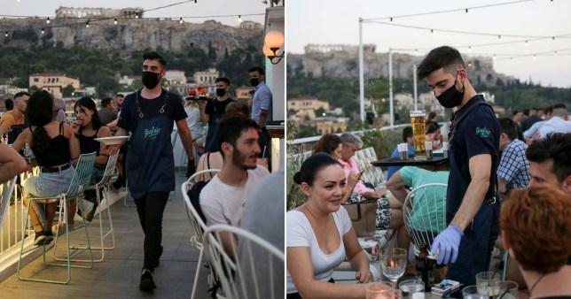 Greece shuts down bars