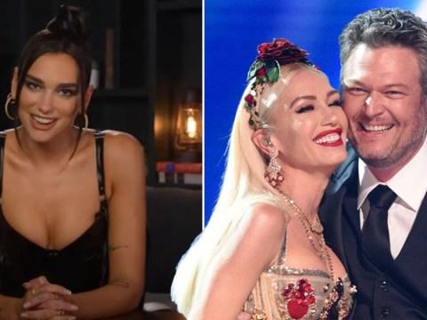 Gwen Stefani has the best reaction when Dua Lipa accidentally calls Blake Shelton her 'husband'