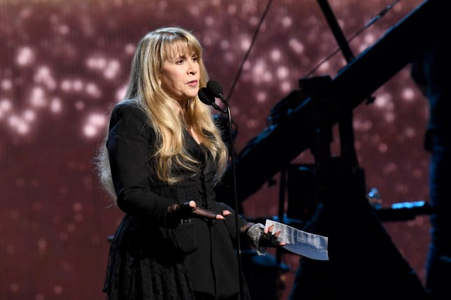 NEW YORK, NEW YORK - MARCH 29: Inductee Stevie Nicks performs at the 2019 Rock & Roll Hall Of Fame Induction Ceremony - Show at Barclays Center on March 29, 2019 in New York City. (Photo by Dimitrios Kambouris/Getty Images For The Rock and Roll Hall of Fame)