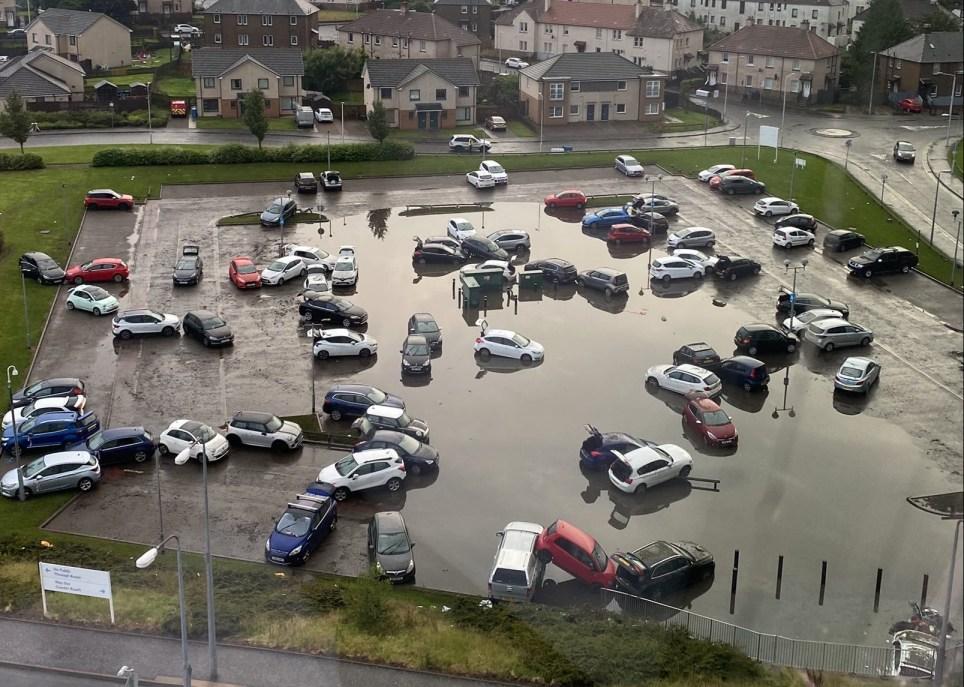 Dozens of cars damaged in major flooding at Victoria hospital car park overnight